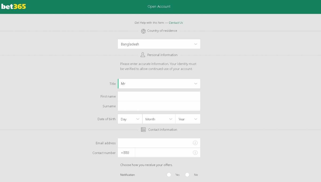 Bet365 app IOS register