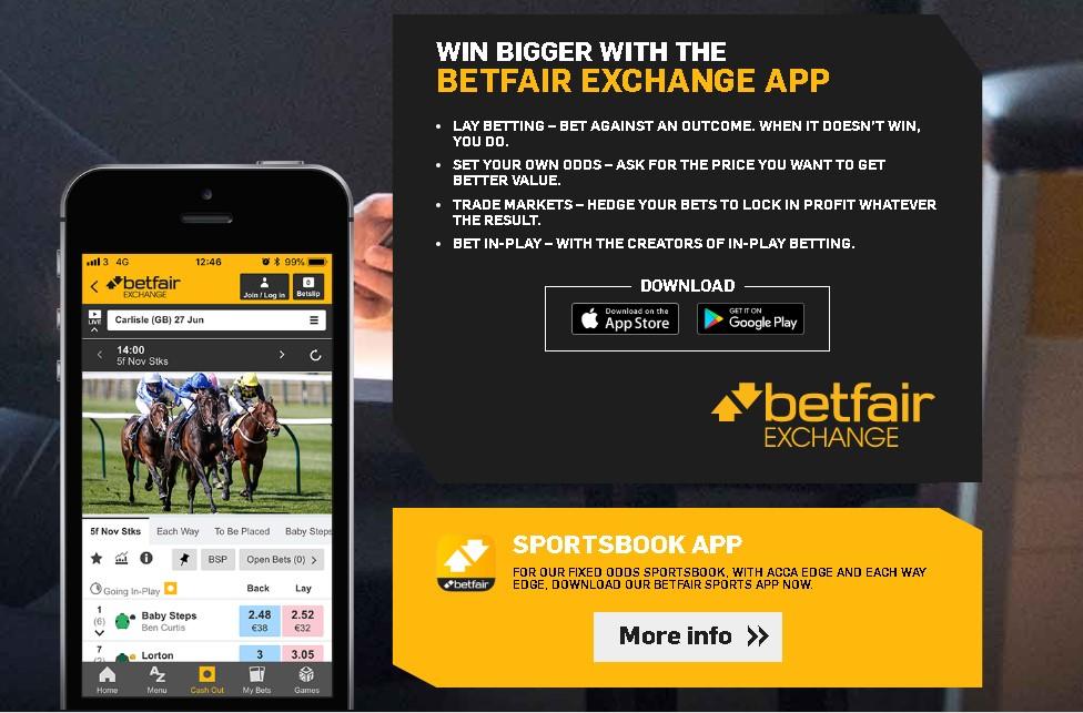 Betfair iOS app