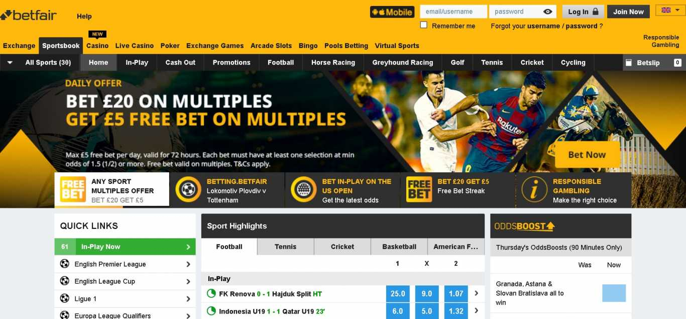 Betfair Bangladesh sportsbook