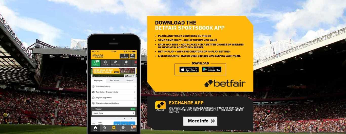 Betfair sportsbook mobile app